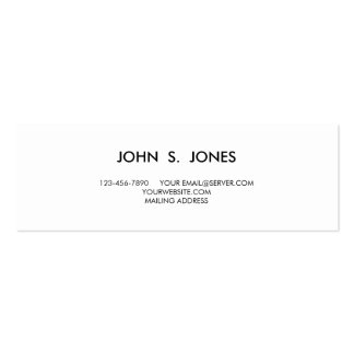 PURPLE GLITTER MUSTACHE POLKA DOTS PACK OF SKINNY BUSINESS CARDS