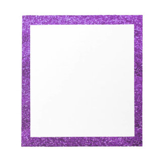 Purple Glitter Notepad