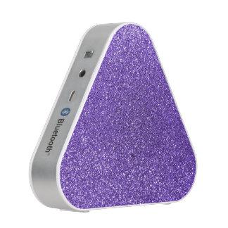 Purple glitter bluetooth speaker