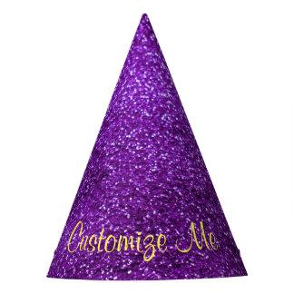 Purple Glitter Party Hat