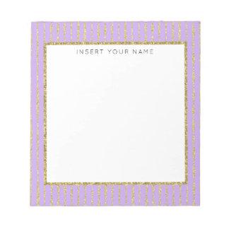 """Purple & Glitter Personalized Notepad 5.5"""" x 6"""""""