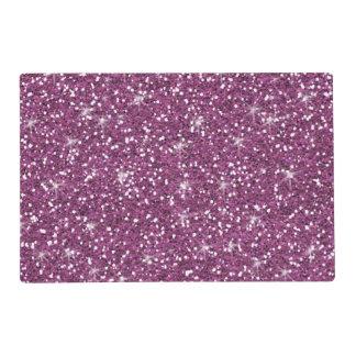 Purple Glitter Printed Laminated Place Mat