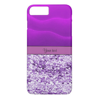 Purple Glitter & Sand iPhone 7 Plus Case