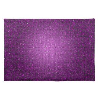 Purple Glitter Sequin Disco Glitz Pattern Placemat