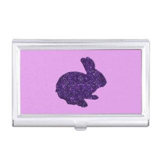 Purple Glitter Silhouette Bunny Card Holder