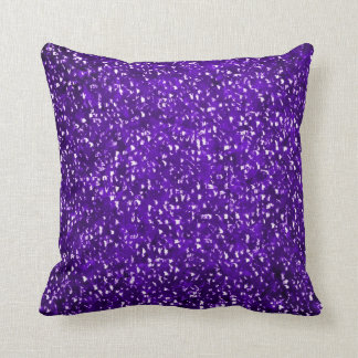 Purple Glitter Sparkle Bling Accent Pillow