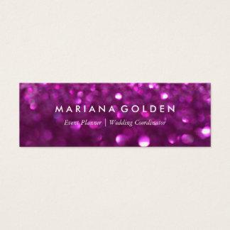 Purple Glitter Sparkle Bokeh Business Card
