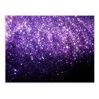 purple glitter sparkle glow shine happy postcard