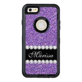 Purple Glitter Sparkles Modern Stylish OtterBox iPhone 6/6s Plus Case