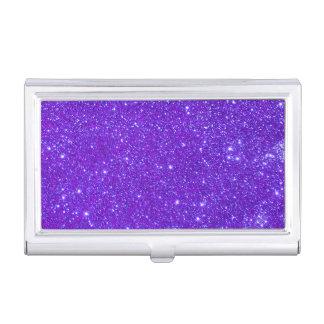Purple Glitter Sparkly Business Card Case 5