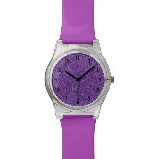 Purple Glitter Watch