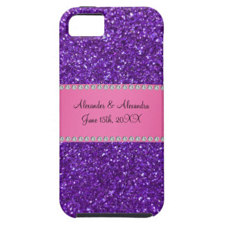 Purple glitter wedding favors case for the iPhone 5