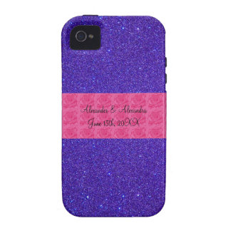Purple glitter wedding favors iPhone 4 cover