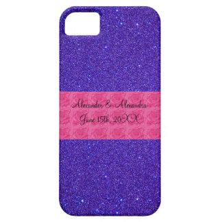 Purple glitter wedding favors iPhone 5 covers