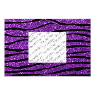 Purple glitter zebra stripes photo art