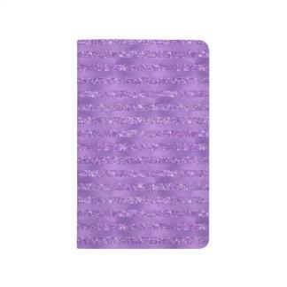 Purple Glittery Stripes Journal