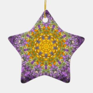 Purple glow christmas ornament