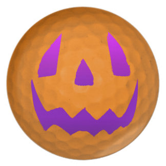 Purple Glow Halloween Golf Ball Plate