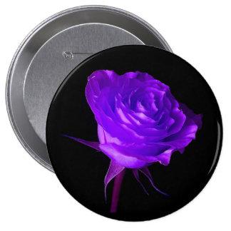"""Purple Glow"" Rose 10 Cm Round Badge"