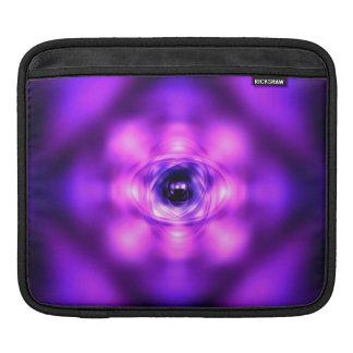 Purple glowing atom iPad sleeve