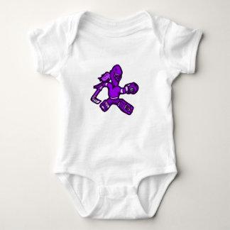 Purple Goalie Girl Baby Bodysuit