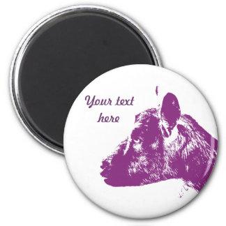 Purple Goat Magnet