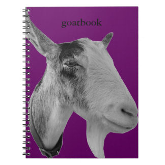 Purple Goatbook Spiral Notebook