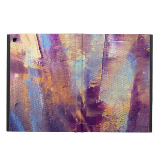 Purple & Gold Abstract Oil Painting Metallic Cover For iPad Air