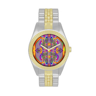 Purple Gold Abstract Watch
