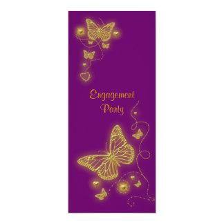 Purple gold butterfly elegant card