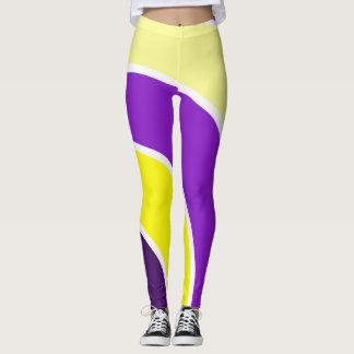 Purple & Gold Circles Leggings