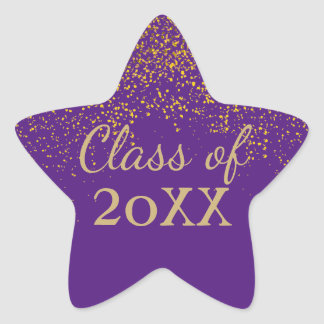 Purple Gold Class of 2017 Graduation Sticker
