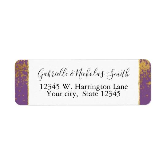 Purple Gold Confetti Dots