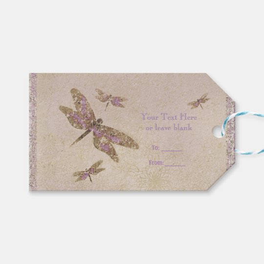 Purple & Gold Dragonflies Dragonfly Party Favour Gift