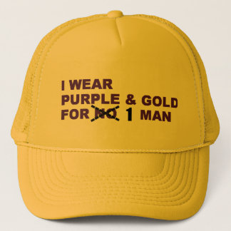 Purple & Gold Favre Hat