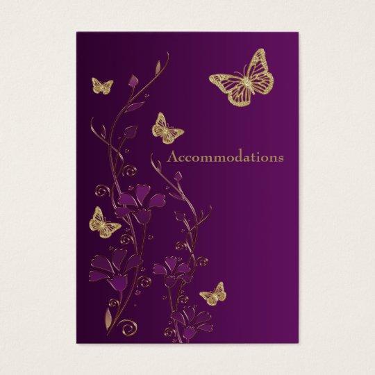 Purple, Gold Floral Butterflies Enclosure Card