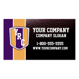 Purple & Gold Football Card Pack Of Standard Business Cards