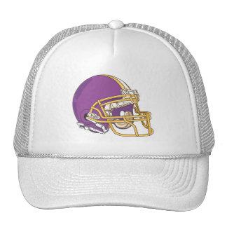 Purple Gold Football Helmet Mesh Hat
