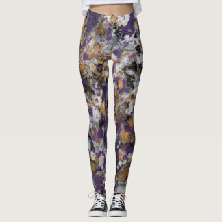 Purple & Gold Galaxy Leggings