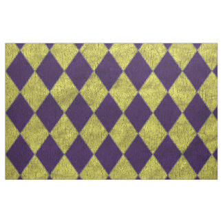 Purple & Gold Jester Harlequin Fabric