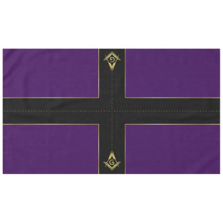 Purple & Gold Masonic Tablecloths and Decorations