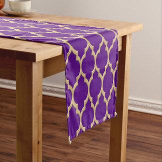 Purple Gold Moroccan #4LG Pattern Short Table Runner