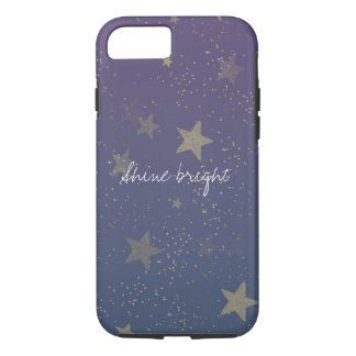 Purple Gold Stars Confetti iPhone 8/7 Case