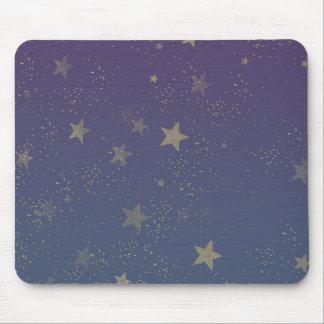 Purple Gold Stars Confetti Mouse Mat