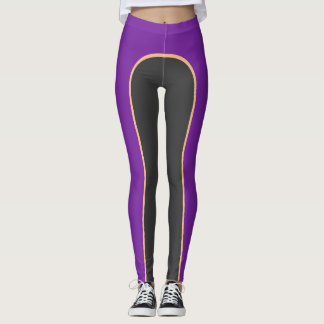 Purple/Gold/Steel Three Colour Leggings