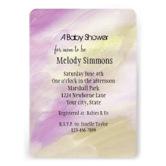 Purple Gold Watercolor Baby Shower Cards