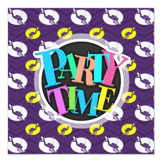 Purple, Gold Yellow, White, Scuba Diving Chevron 13 Cm X 13 Cm Square Invitation Card
