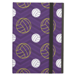 Purple, Gold Yellow, White, Volleyball Chevron iPad Air Cover