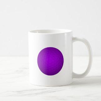 Purple Golf Ball Basic White Mug