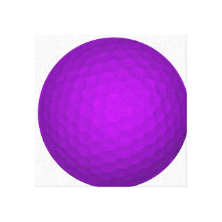 Purple Golf Ball Gallery Wrapped Canvas